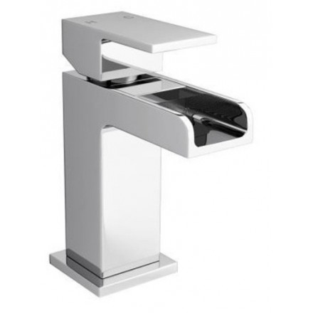Dunk Mini Mono basin mixer with click clack waste
