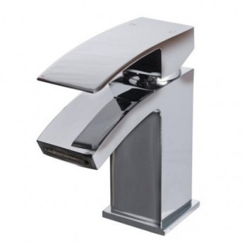 Peak mini mono basin mixer with click clack waste