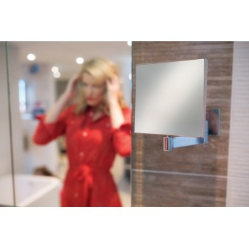 Helix Square Magnifying Mirror H17 x W17cm